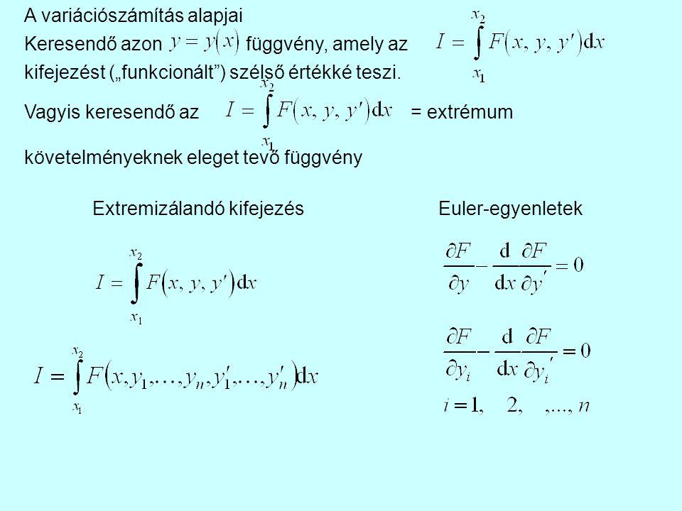 A variációszámítás alapjai