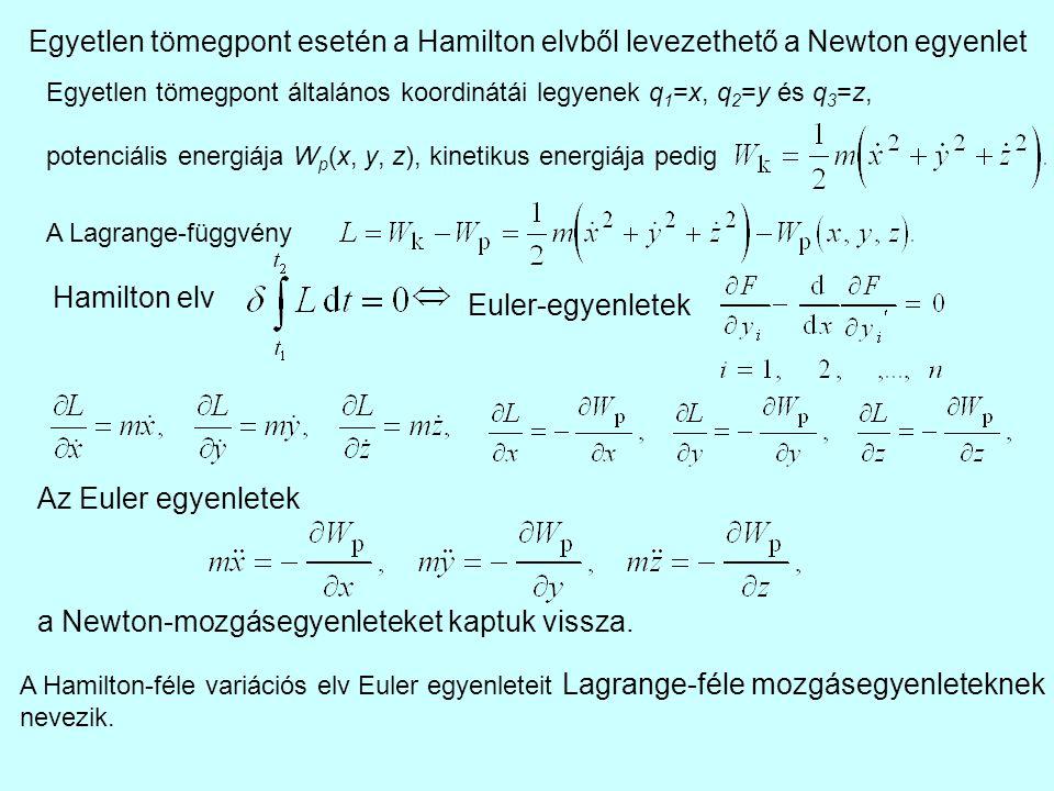 a Newton-mozgásegyenleteket kaptuk vissza.