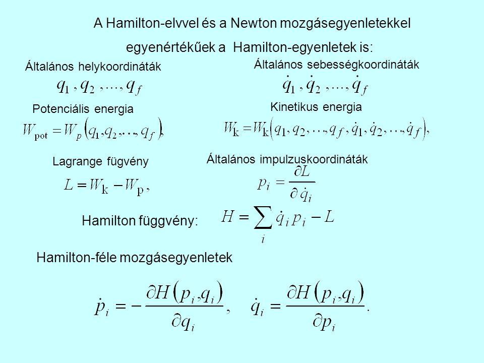 A Hamilton-elvvel és a Newton mozgásegyenletekkel