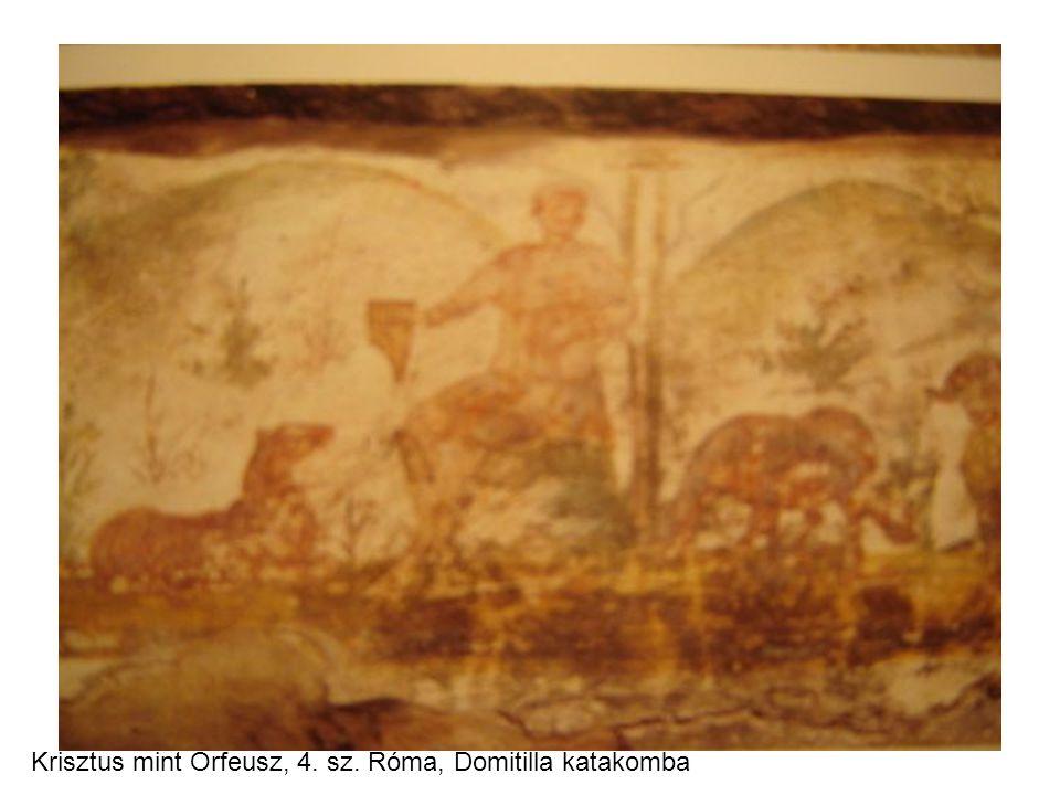 Krisztus mint Orfeusz, 4. sz. Róma, Domitilla katakomba