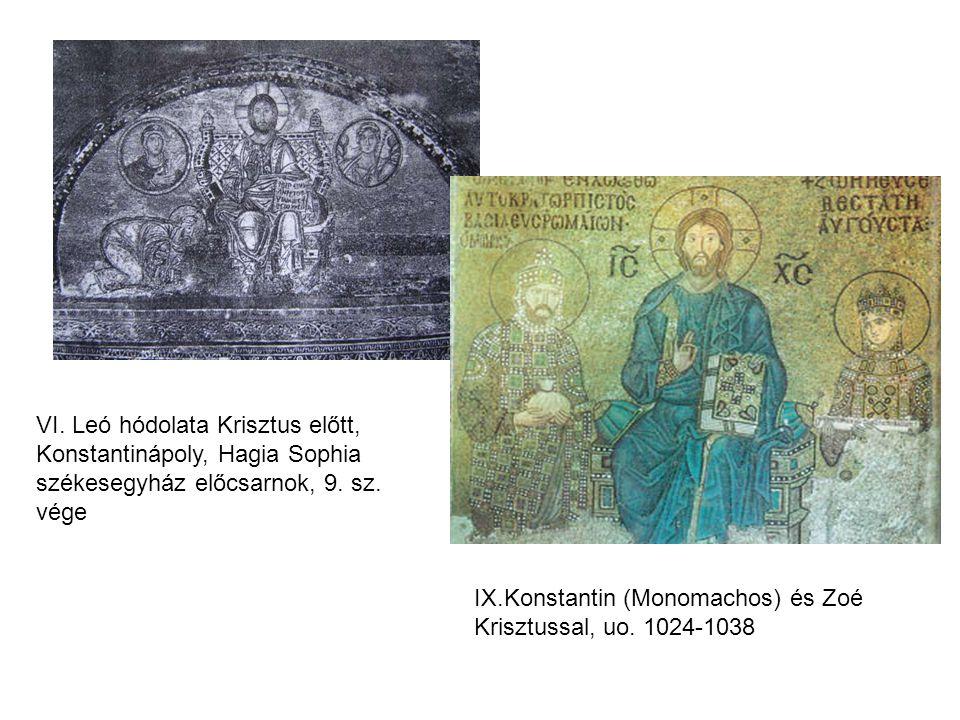 VI. Leó hódolata Krisztus előtt, Konstantinápoly, Hagia Sophia székesegyház előcsarnok, 9. sz. vége