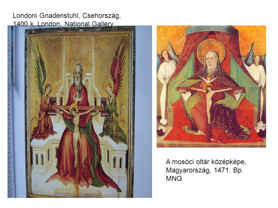 Londoni Gnadenstuhl, Csehország, 1400 k. London, National Gallery