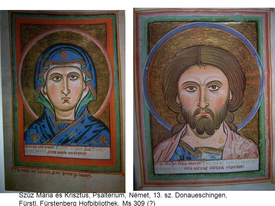 Szűz Mária és Krisztus, Psalterium, Német, 13. sz