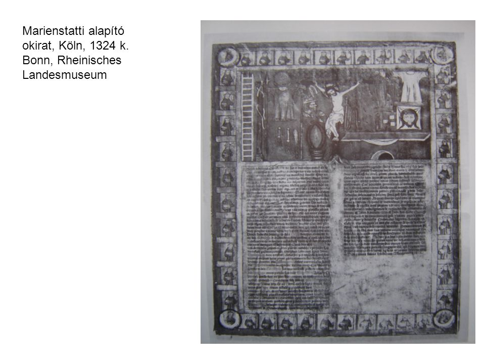 Marienstatti alapító okirat, Köln, 1324 k