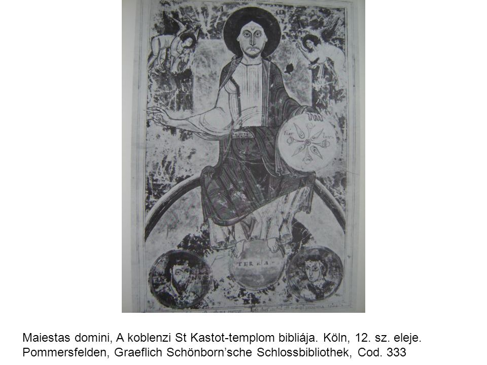 Maiestas domini, A koblenzi St Kastot-templom bibliája. Köln, 12. sz