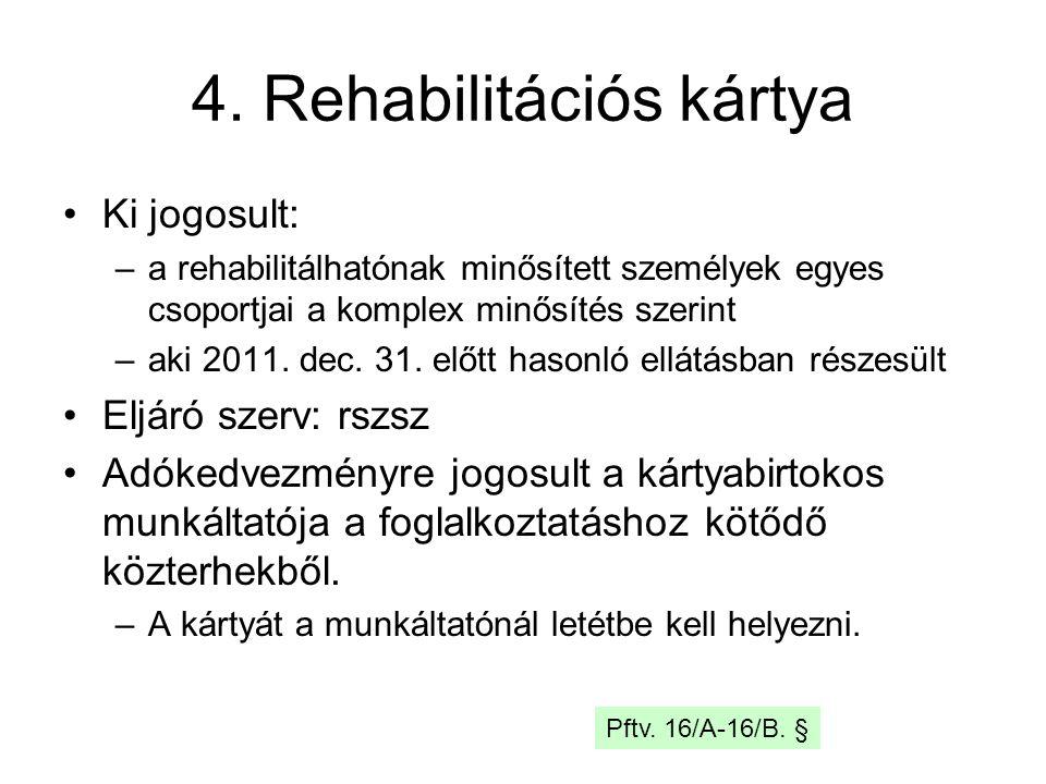 4. Rehabilitációs kártya