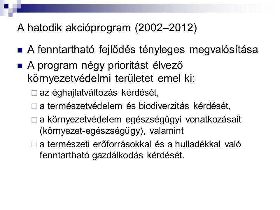 A hatodik akcióprogram (2002–2012)