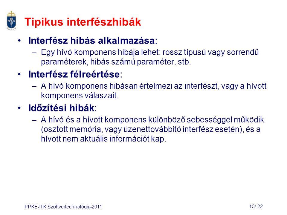 Tipikus interfészhibák
