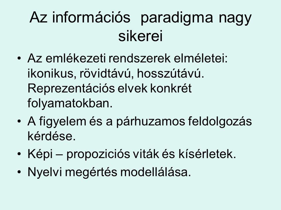 Az információs paradigma nagy sikerei