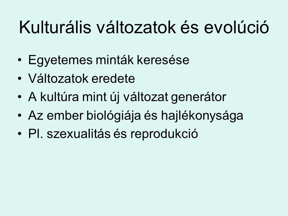 Kulturális változatok és evolúció
