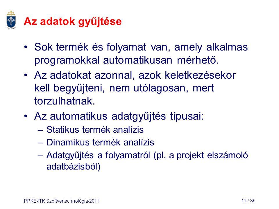 Az automatikus adatgyűjtés típusai: