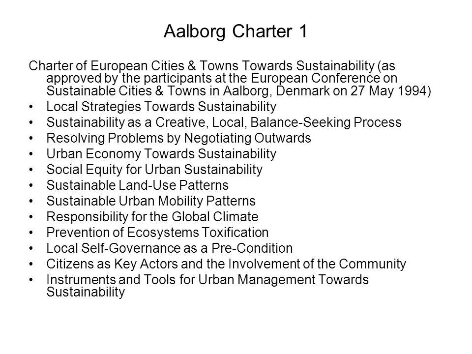 Aalborg Charter 1
