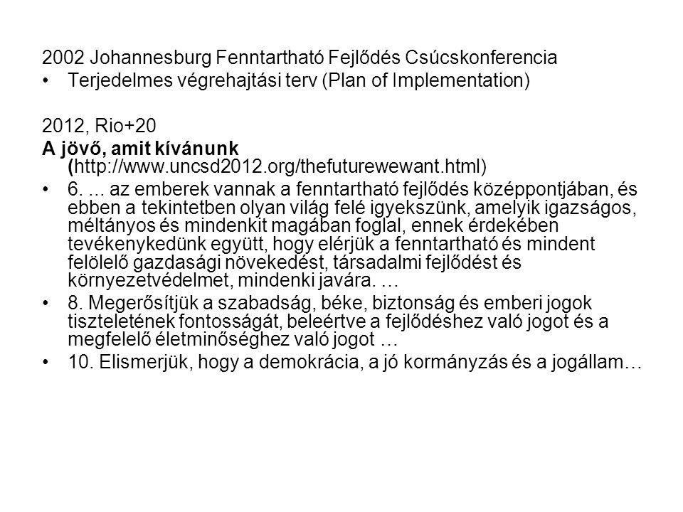 2002 Johannesburg Fenntartható Fejlődés Csúcskonferencia