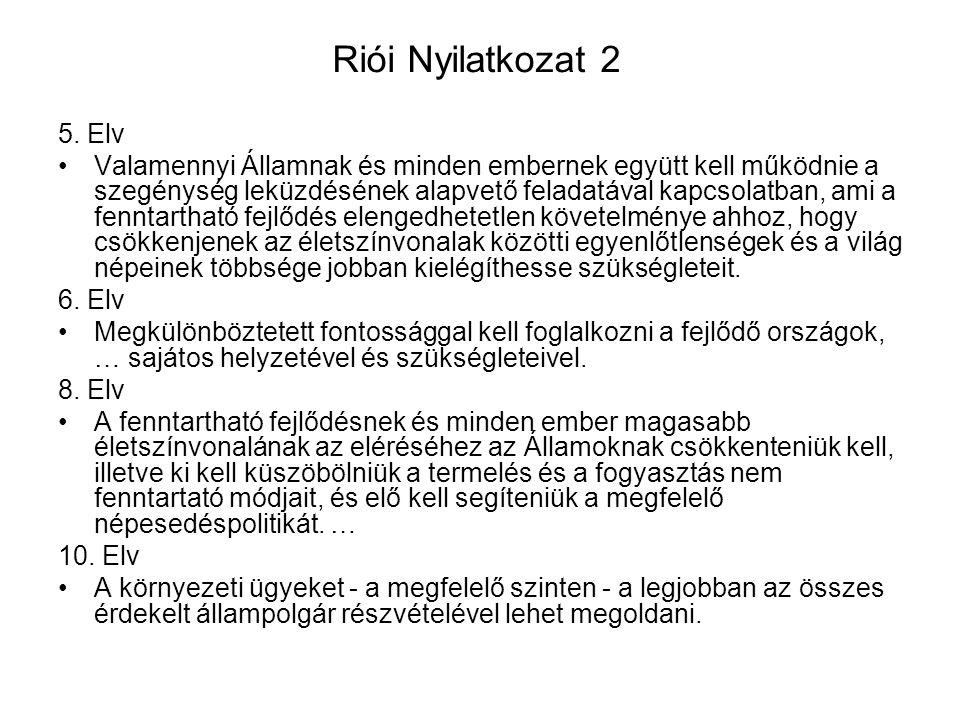 Riói Nyilatkozat 2 5. Elv.