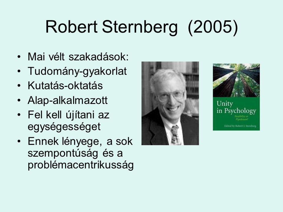 Robert Sternberg (2005) Mai vélt szakadások: Tudomány-gyakorlat