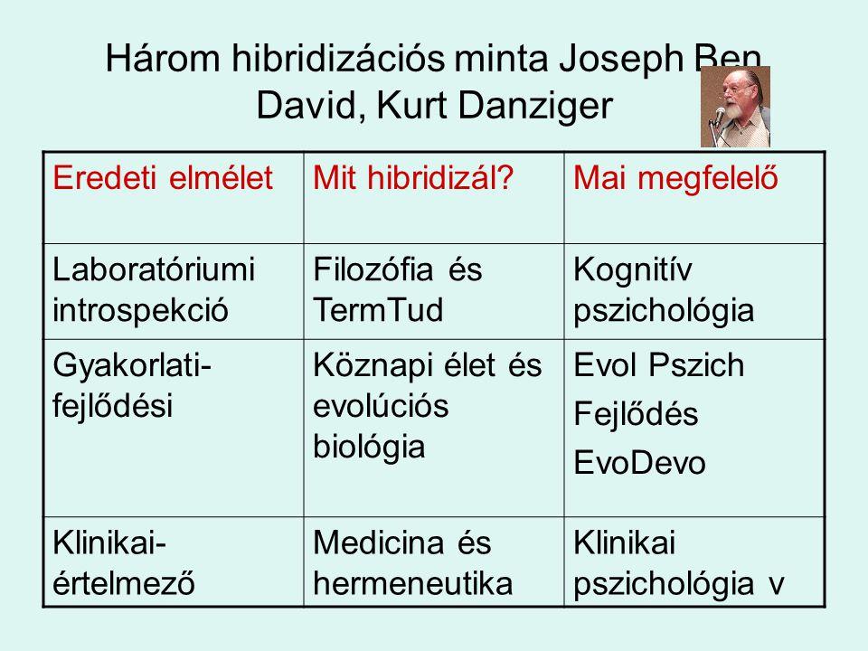 Három hibridizációs minta Joseph Ben David, Kurt Danziger