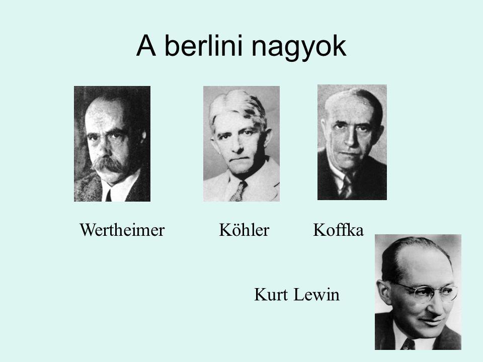 A berlini nagyok Wertheimer Köhler Koffka Kurt Lewin
