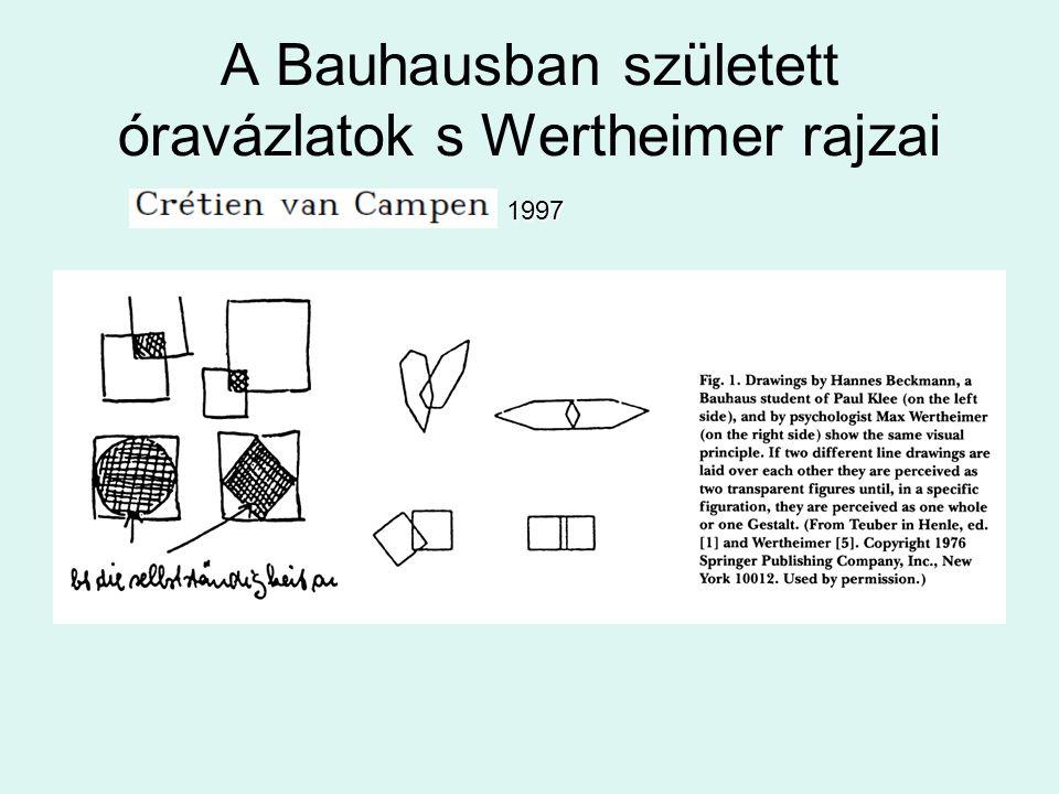 A Bauhausban született óravázlatok s Wertheimer rajzai