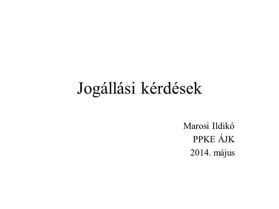 Marosi Ildikó PPKE ÁJK 2014. május