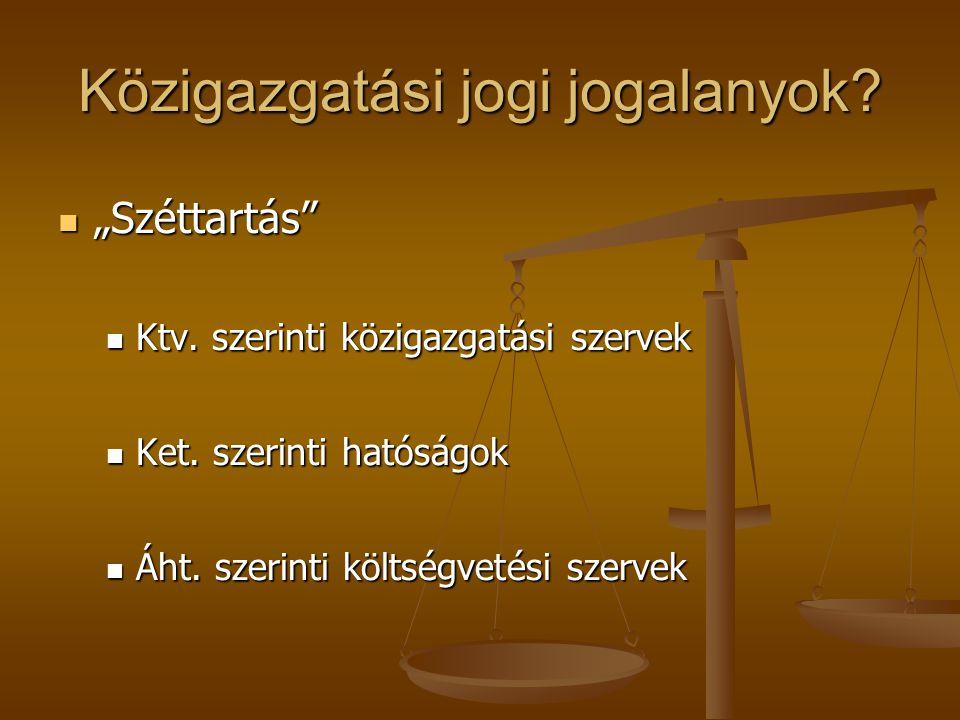 Közigazgatási jogi jogalanyok