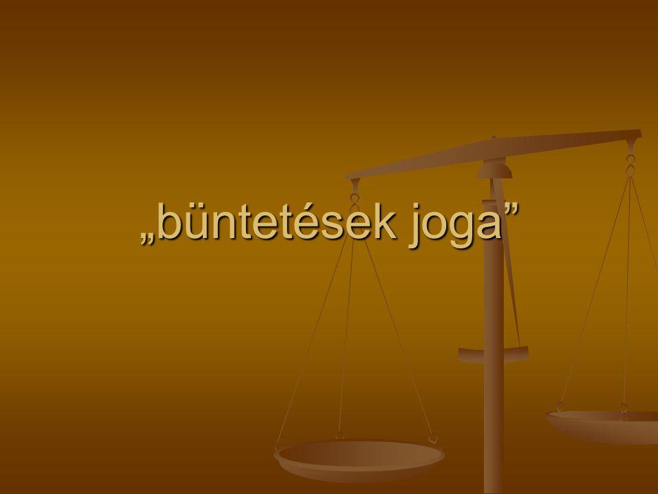 """""""büntetések joga"""