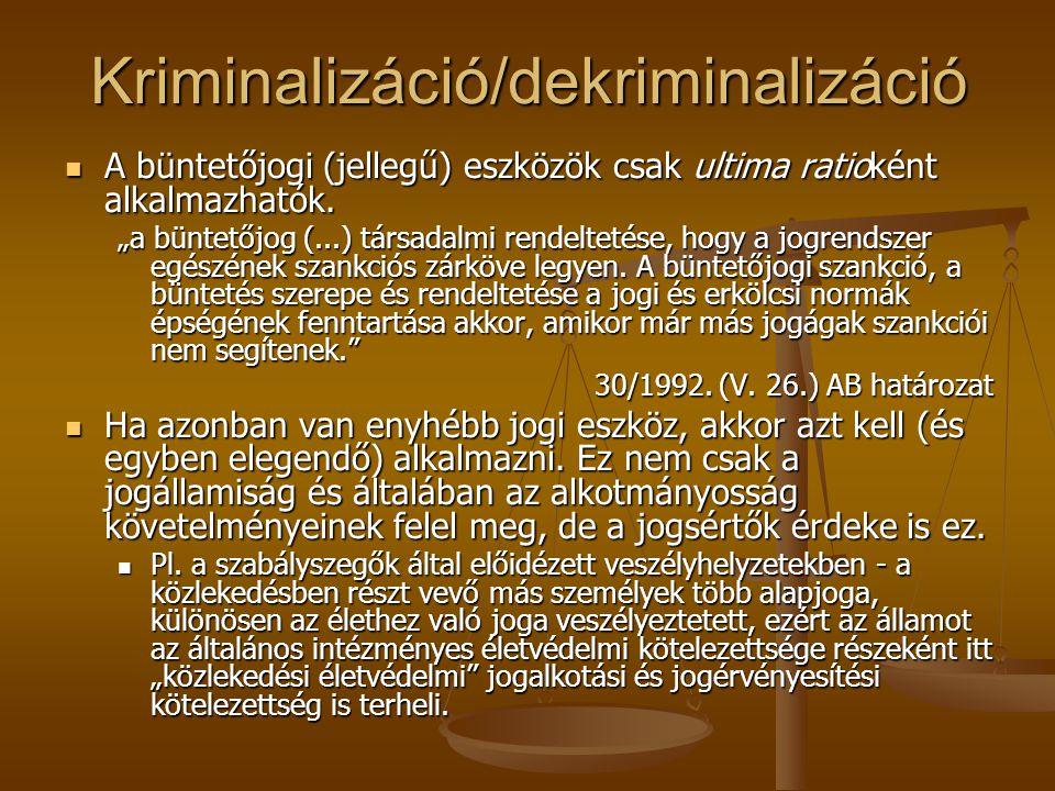 Kriminalizáció/dekriminalizáció