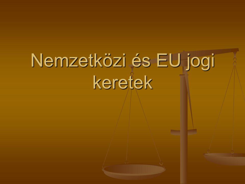Nemzetközi és EU jogi keretek