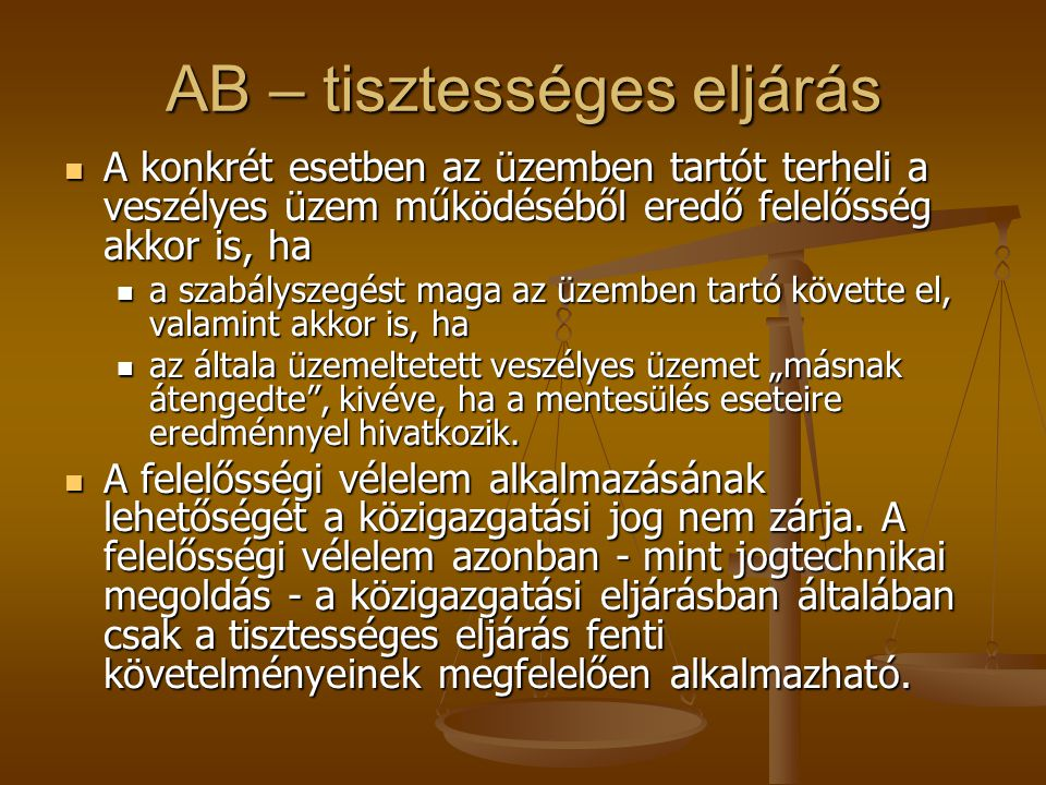 AB – tisztességes eljárás