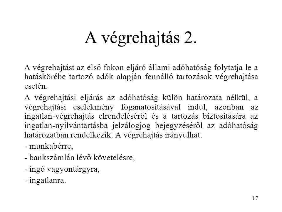 A végrehajtás 2.