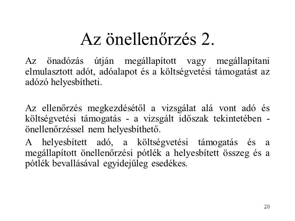 Az önellenőrzés 2.