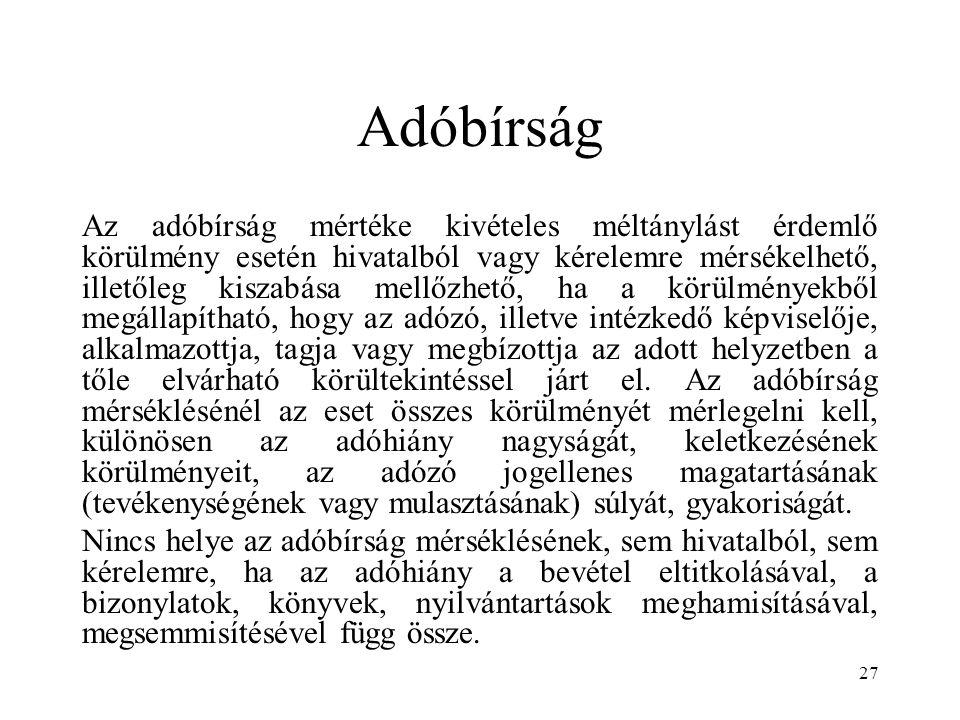 Adóbírság