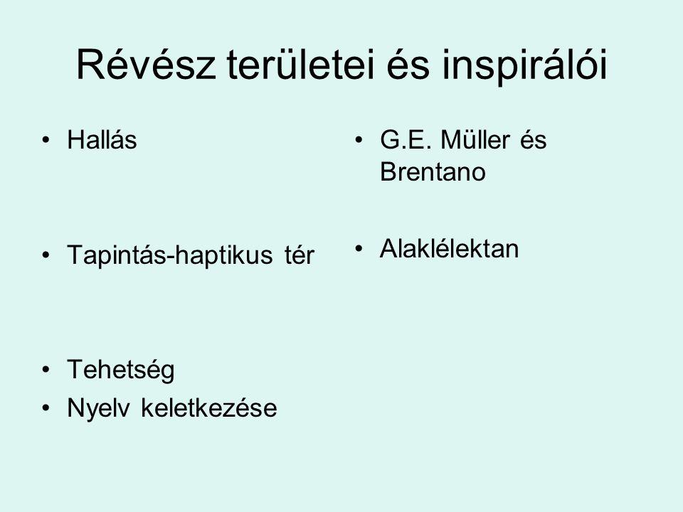 Révész területei és inspirálói