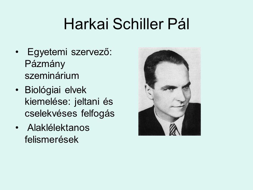 Harkai Schiller Pál Egyetemi szervező: Pázmány szeminárium