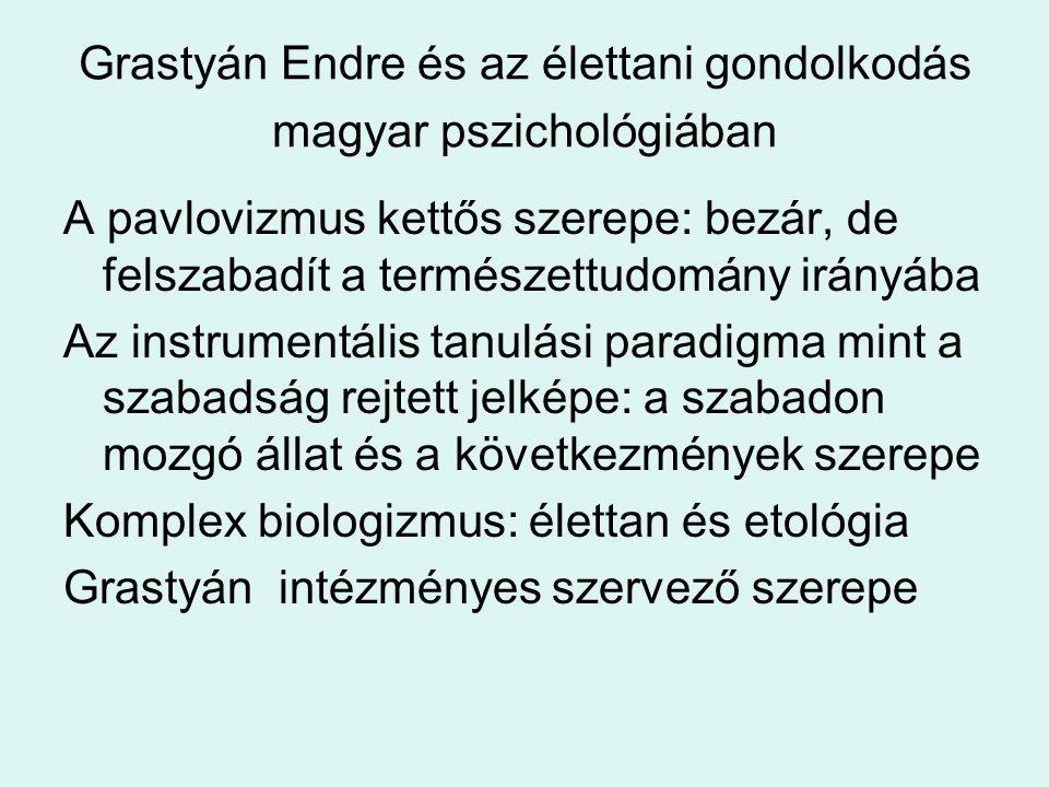 Grastyán Endre és az élettani gondolkodás magyar pszichológiában