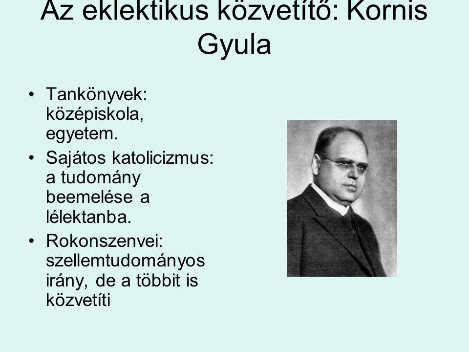 Az eklektikus közvetítő: Kornis Gyula