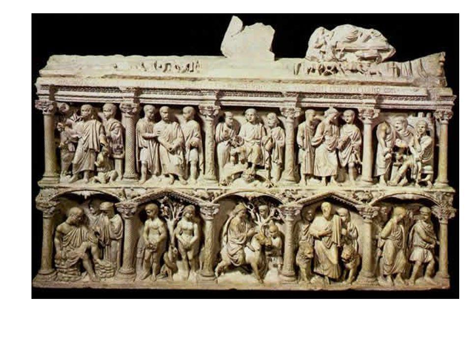 Felső sor: Izsák feláldozása, Péter elfogatása, Traditio legis, Krisztust Pilátus elé vezetik