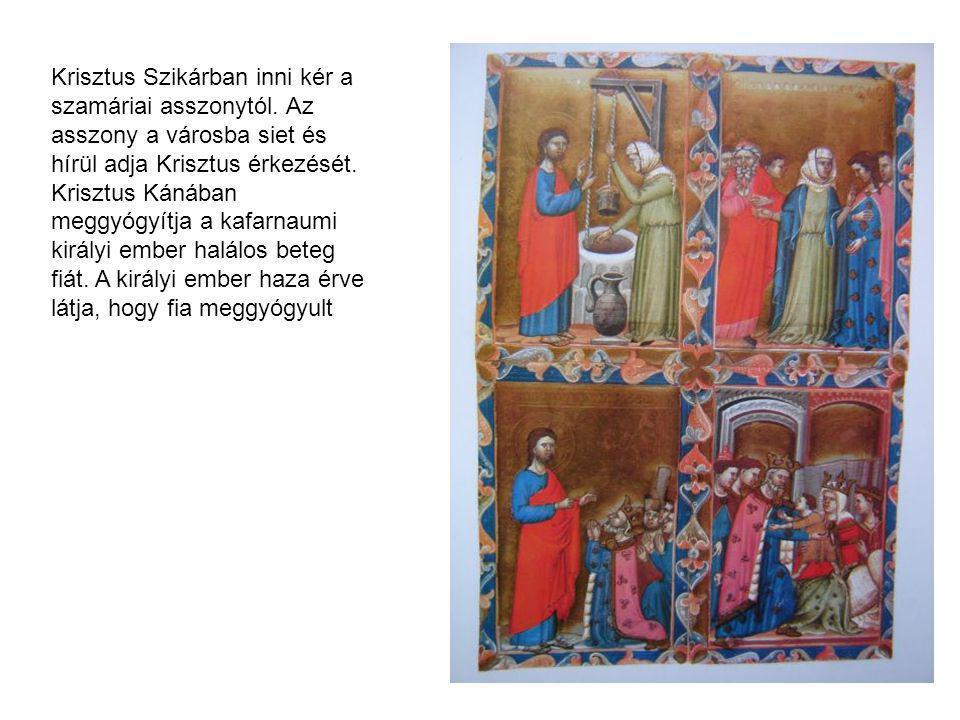 Krisztus Szikárban inni kér a szamáriai asszonytól