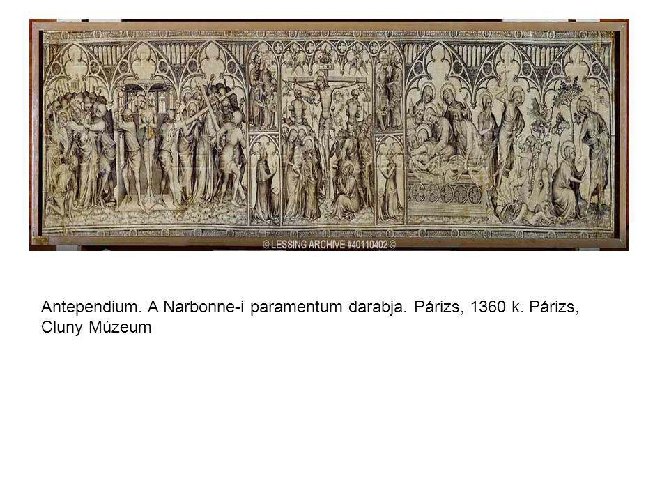 Antependium. A Narbonne-i paramentum darabja. Párizs, 1360 k
