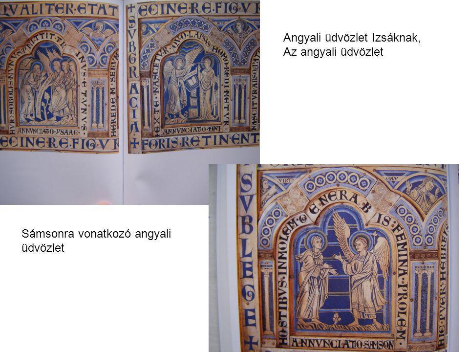 Angyali üdvözlet Izsáknak, Az angyali üdvözlet