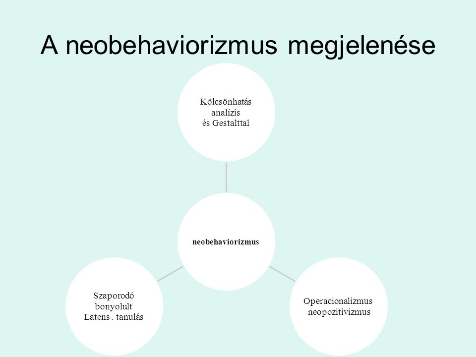 A neobehaviorizmus megjelenése