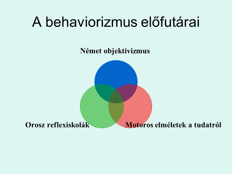 A behaviorizmus előfutárai