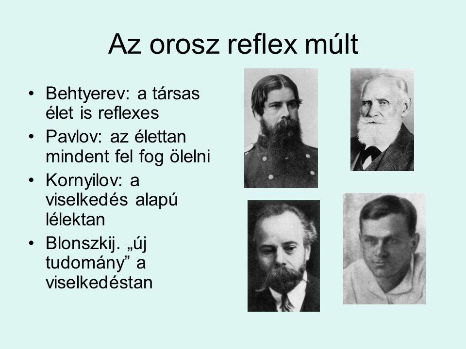 Az orosz reflex múlt Behtyerev: a társas élet is reflexes