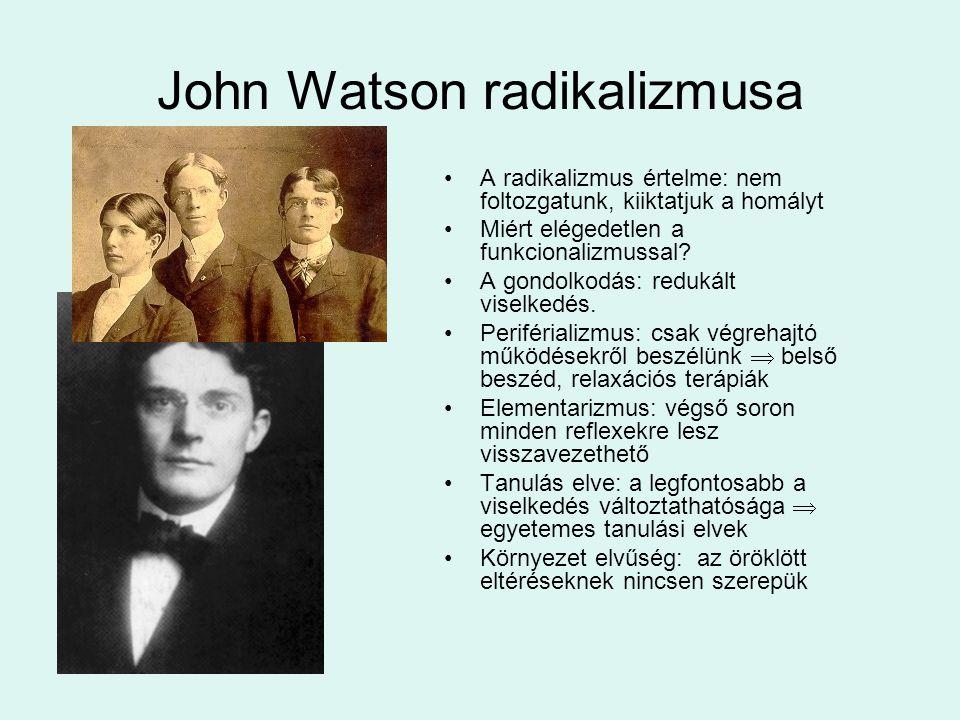John Watson radikalizmusa