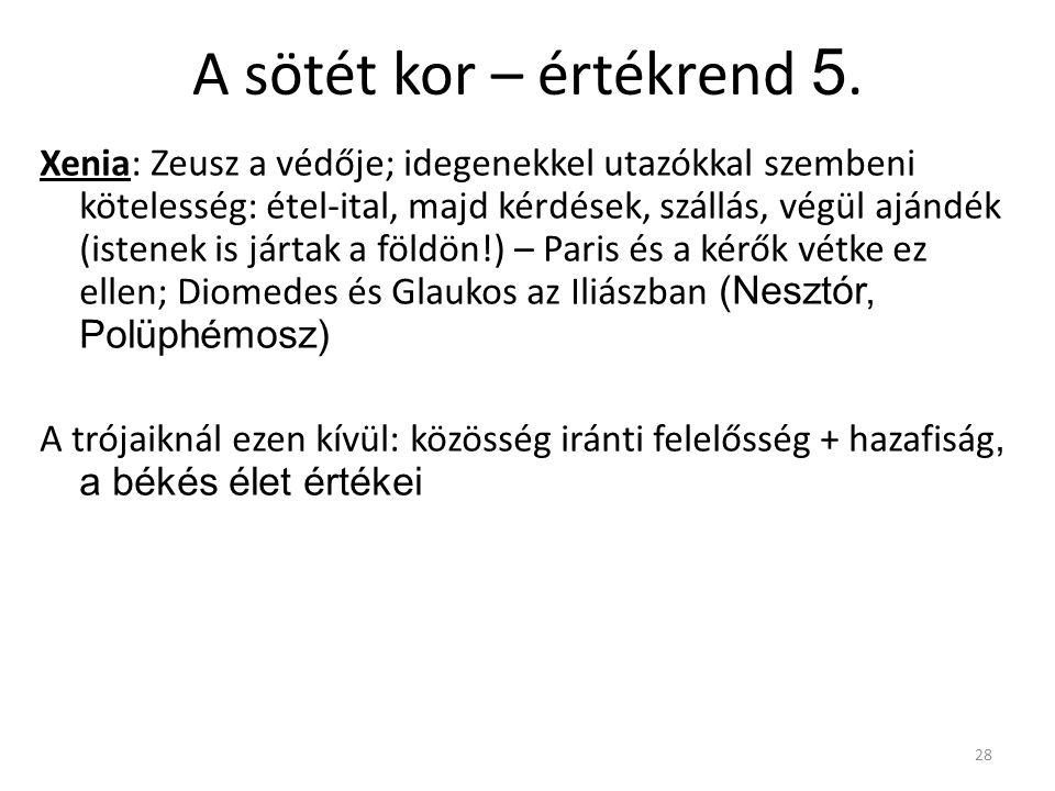 A sötét kor – értékrend 5.