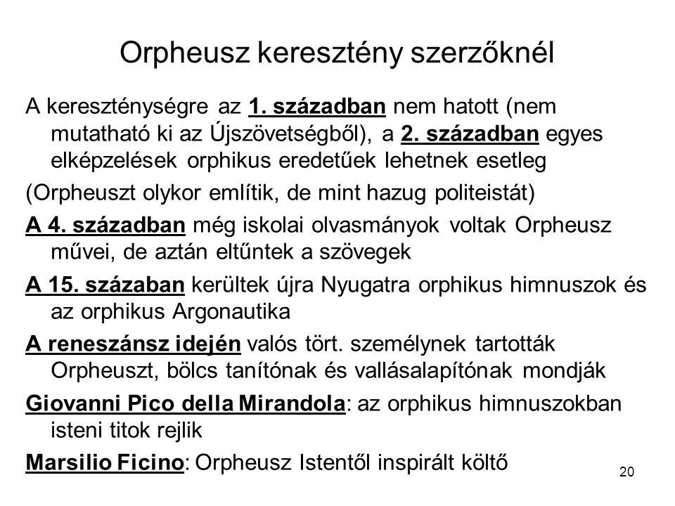 Orpheusz keresztény szerzőknél