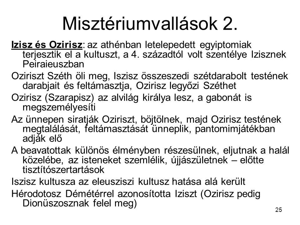 Misztériumvallások 2.