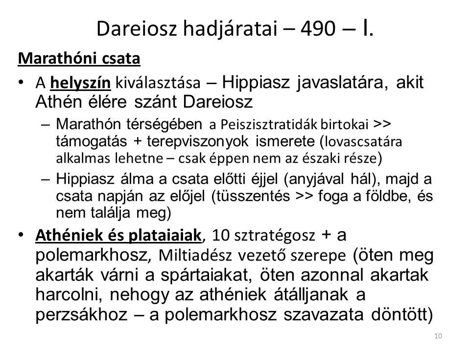 Dareiosz hadjáratai – 490 – I.
