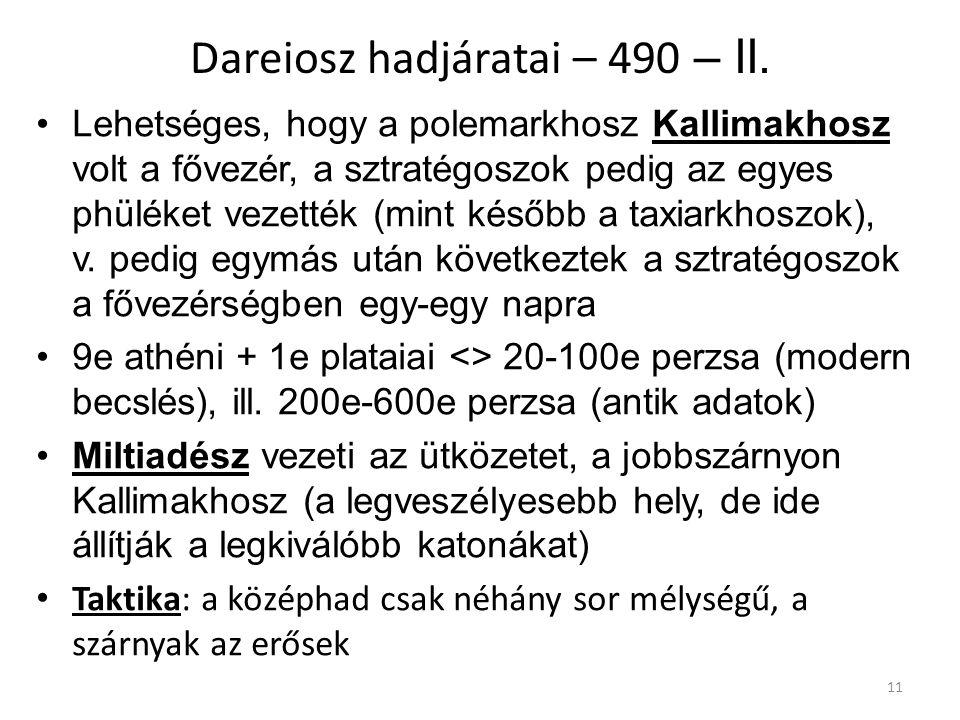 Dareiosz hadjáratai – 490 – II.