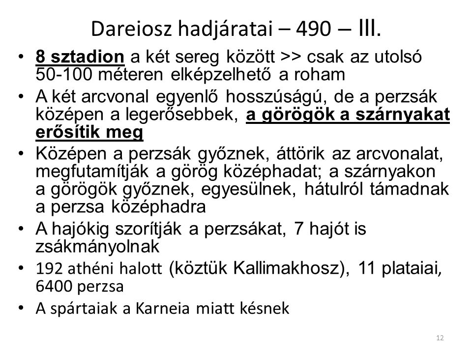 Dareiosz hadjáratai – 490 – III.