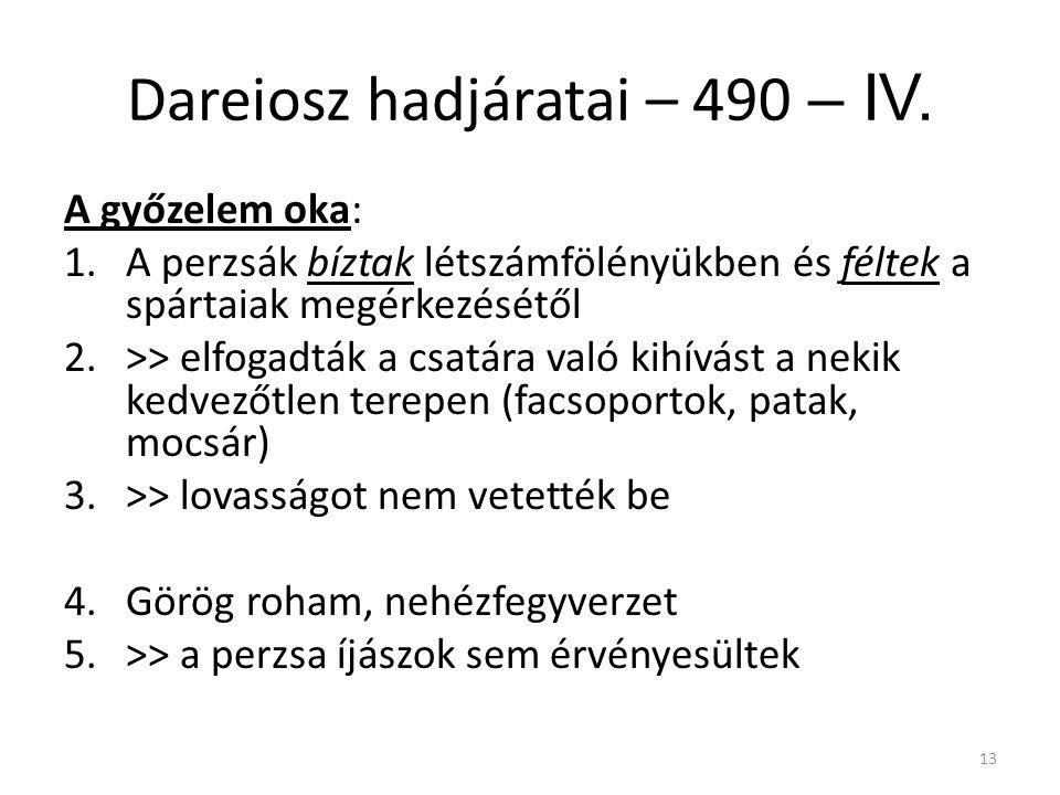 Dareiosz hadjáratai – 490 – IV.
